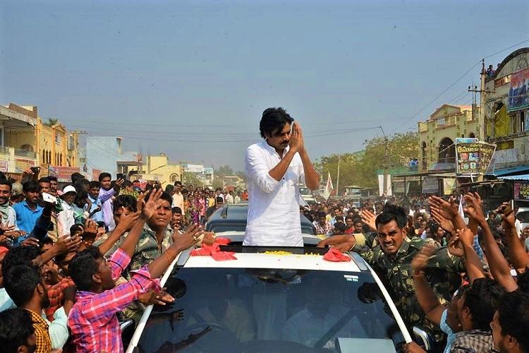 Slipper thrown at Pawan Kalyans car during his Telangana tour