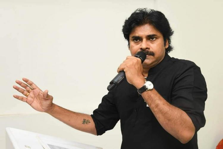 Pawan Kalyan during an interaction with his party cadres