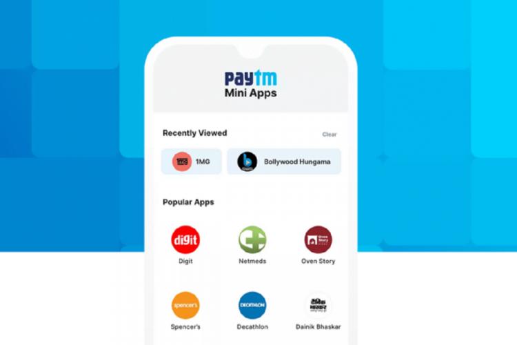 Paytm Mini apps
