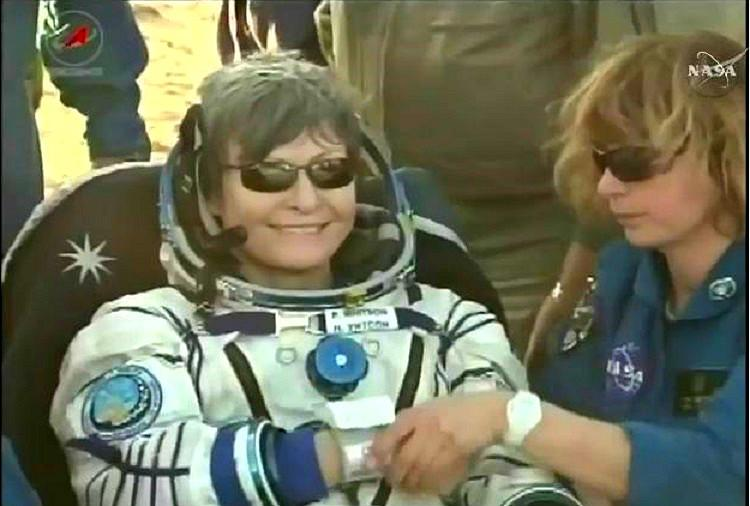 Watch Record breaking astronaut Peggy Whitson returns to Earth after 665 days in space