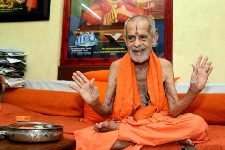 Outspoken controversial in the news Pejawar seer finishes term as Udupi Paryaya Swamiji