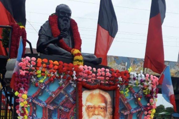 Madras HC advocate arrested for hurling shoe at Periyar statue in Chennai