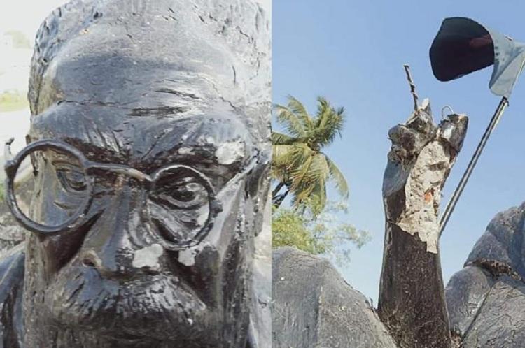 Periyar statue found vandalised in Kancheepuram district