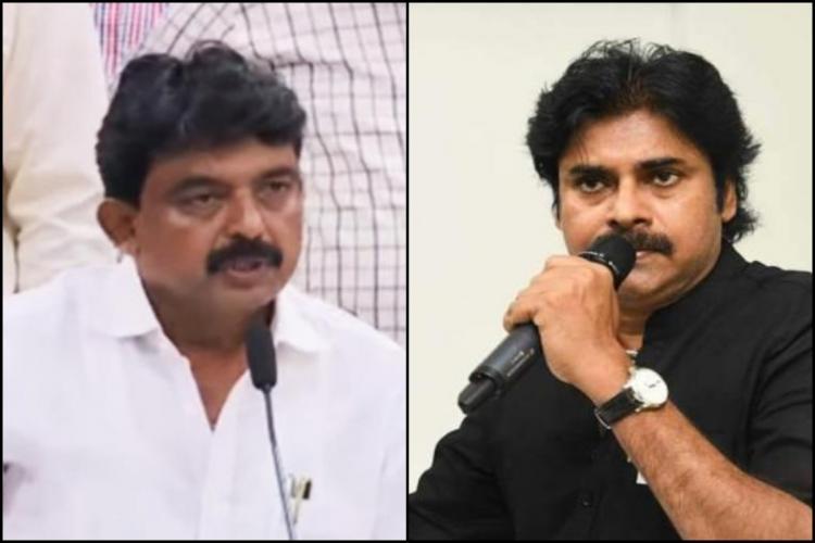 Andhra Minister Perni Nani and Jana Sena Party chief Pawan Kalyan
