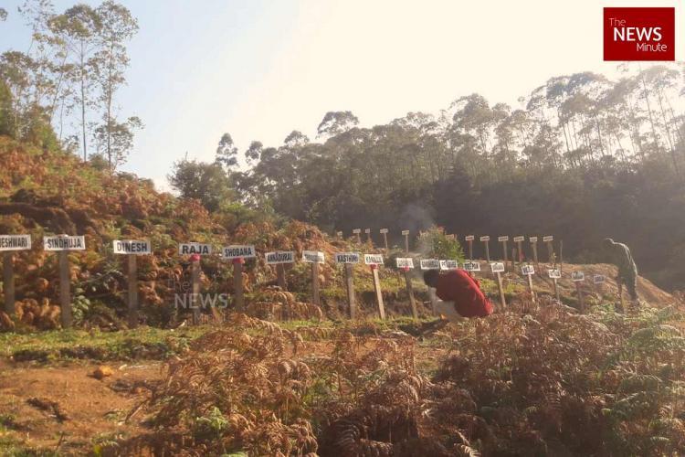 Burial ground of Pettimudi landslide victims