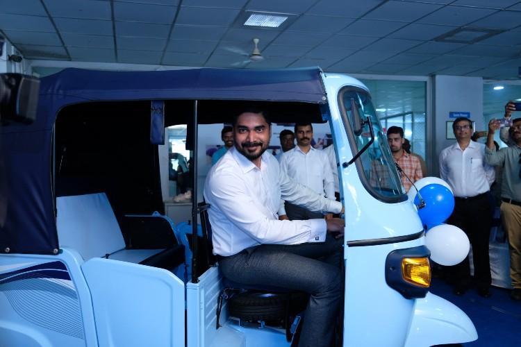 Electric auto-rickshaws launched in Vijayawada by Piaggio