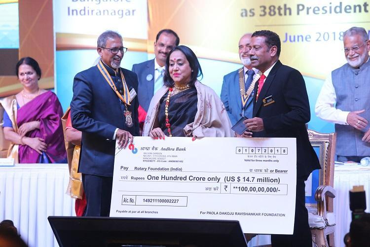 Bengaluru-based realtor donates Rs 100 crore to Rotary International community fund