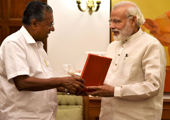 PM raises BJP-Left conflict issues in Kerala with Pinarayi Vijayan