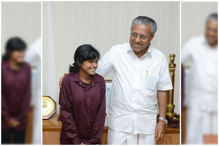 Happy to see her smile Kerala CM meets Hanan Hamid assures his support