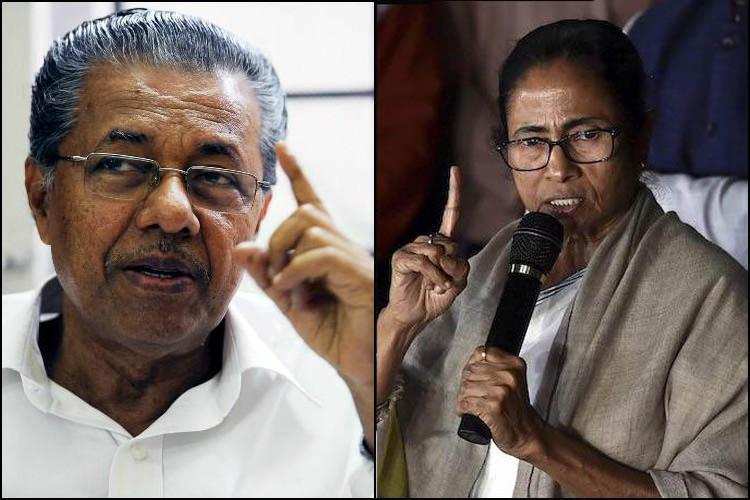 Delhi against BJPs divisive politics Pinarayi Mamata Stalin congratulate Kejriwal