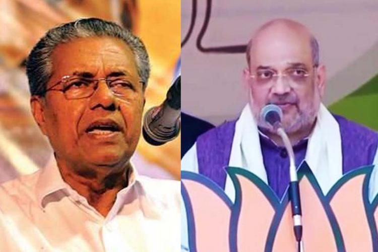 From left: Pinarayi Vijayan, Amit Shah