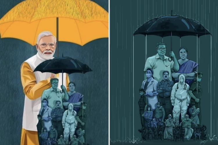 How Bjp Mla S Edited Pic Of Cm Pinarayi And Pm Modi Has Spurred A
