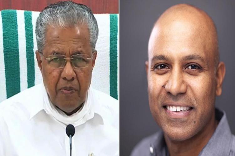 Collage of Kerala CM Pinarayi Vijayan and Sprinklr CEO Ragy Thomas
