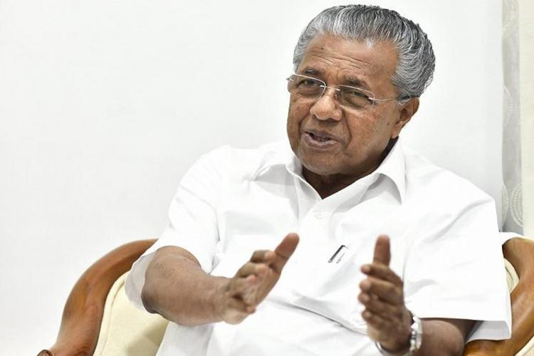 Kerala CM Pinarayi Vijayan smiling