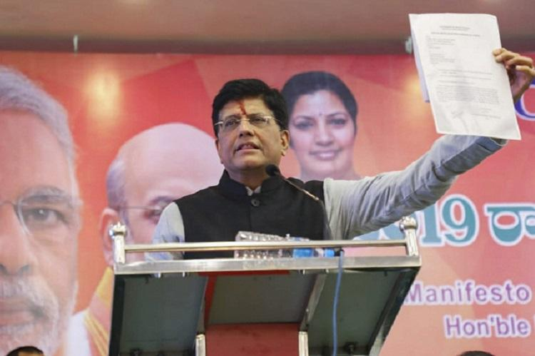 Dont think NEET should be scrapped BJPs Piyush Goyal on AIADMKs promise