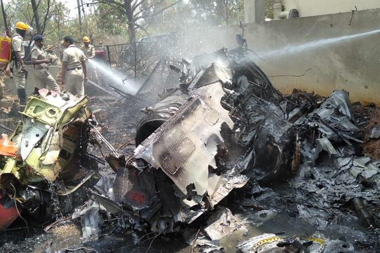Surya Kiran aircraft collision 1 pilot dead 2 injured matter to be investigated