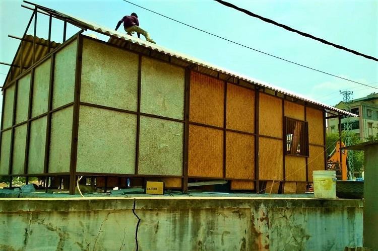 Hyderabad pilots eco-friendly building made of recycled plastic and bamboo at a park