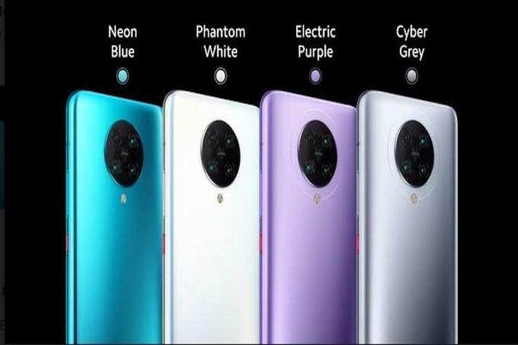 Poco F2 Pro in various colours