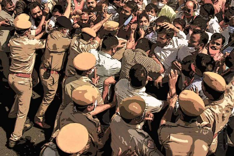 In Andhra rights groups accuse cops of foisting false cases against them