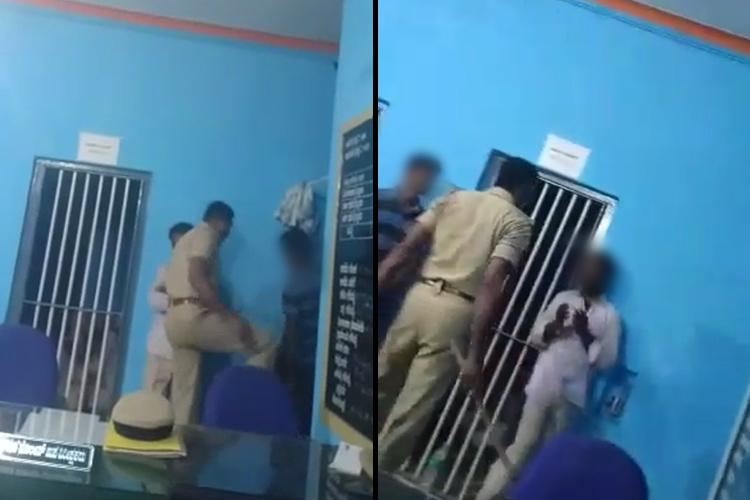 Videos of Ktaka police officer assaulting and abusing Dalit men go viral probe on
