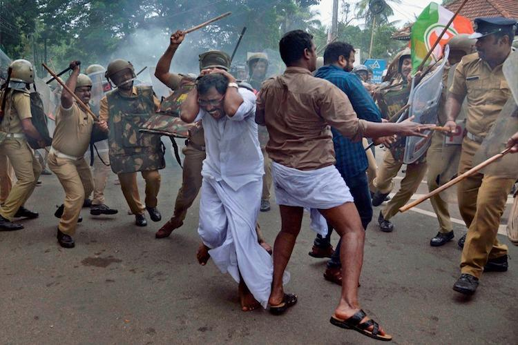 Kerala police ditch British era lathi drill set new protocol for crowd control