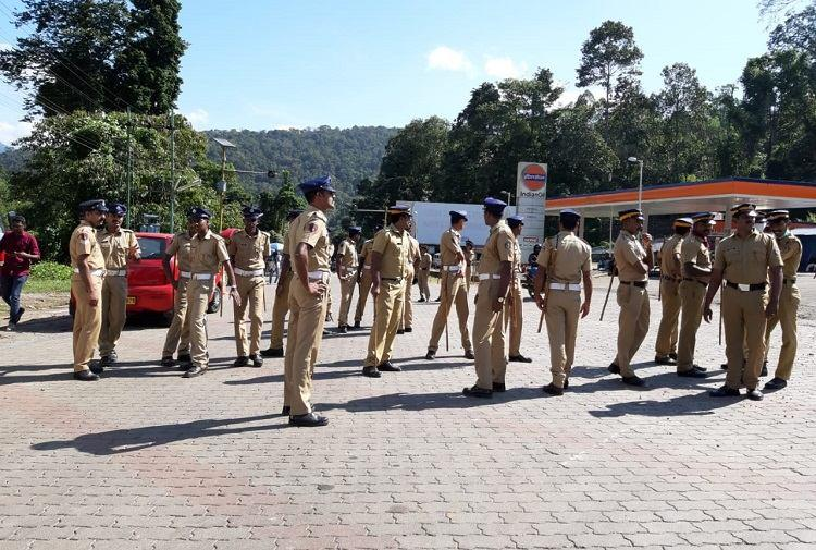 As Sabarimala comes under tight security devotees made to walk for kilometres to reach temple