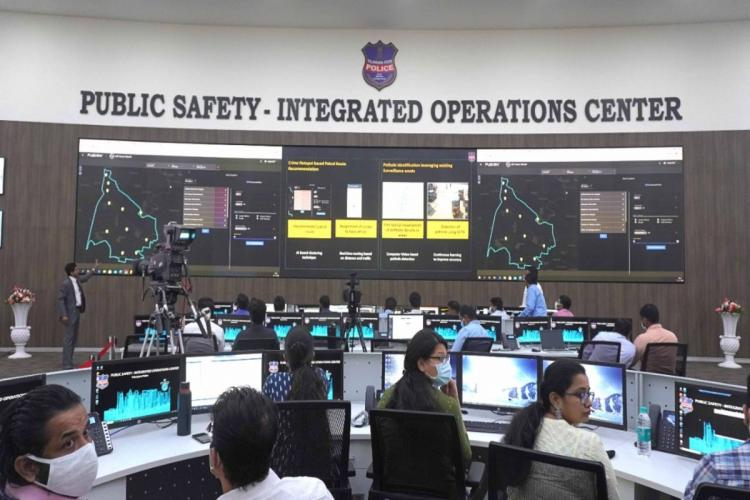 Public Safety Integrated Operations Centre at the Cyberabad Police head quarters