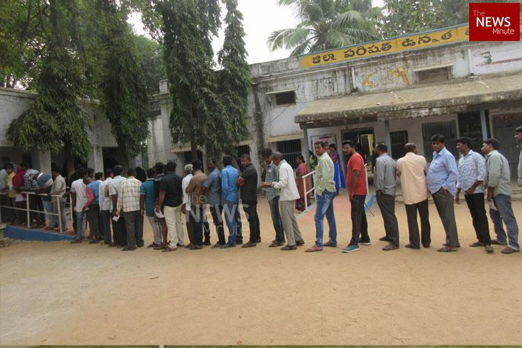 Faulty EVMs delay voting in several polling booths in Telangana