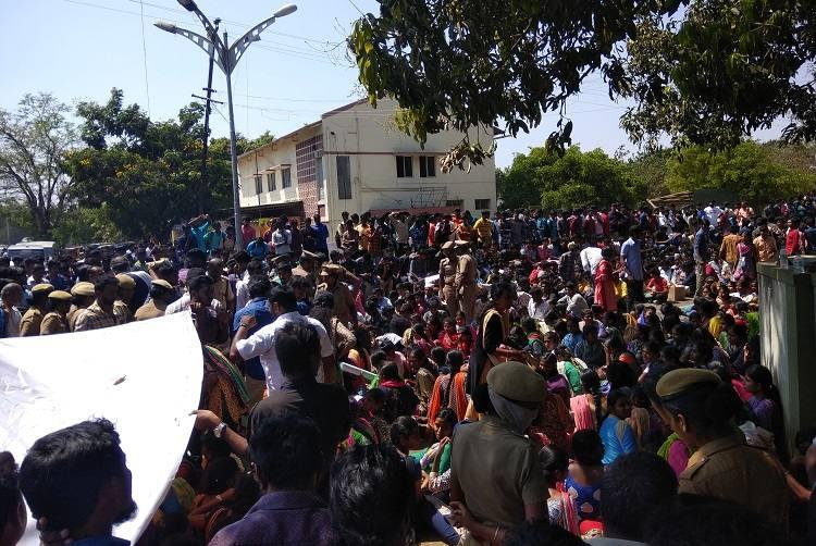Pollachi students take to streets demanding justice protest ends in clash with cops
