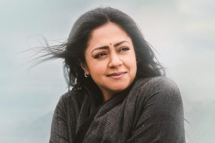 Jyotika in Ooty during the shoot of Ponmagal Vandhal