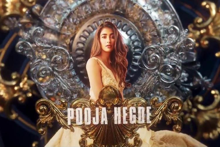 Pooja Hegde is seen in a gown and mystic background
