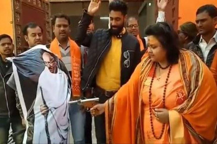 Hydbased party files complaint against Hindu Mahasabha for shooting at Gandhi effigy