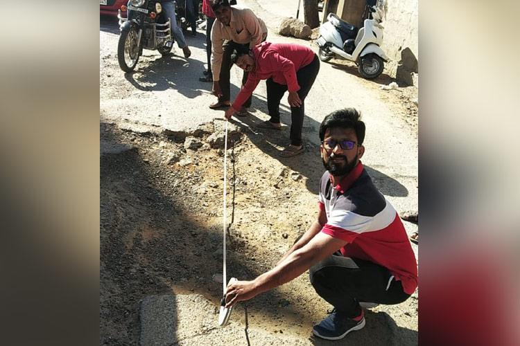 Pothole protest 5 unique ways in which Indians have pointed out bad roads