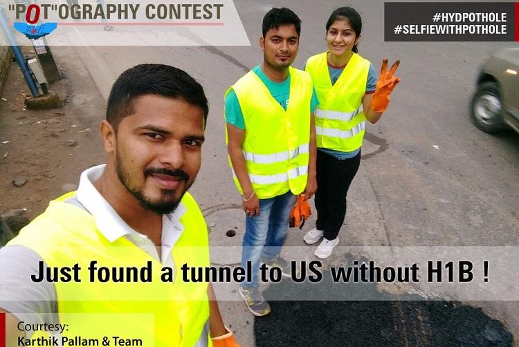 Tunnel to America without H1B Hyd politicians pothole contest gets some hilarious entries
