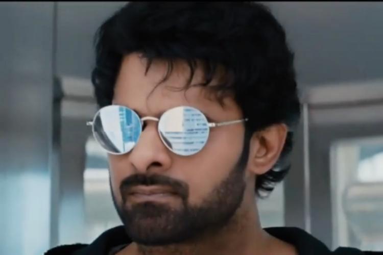 Close up of Prabhas wearing shades