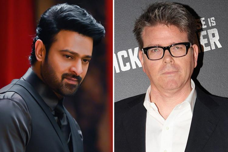 Actor Prabhas on the left and director Christopher McQuarrie on the right