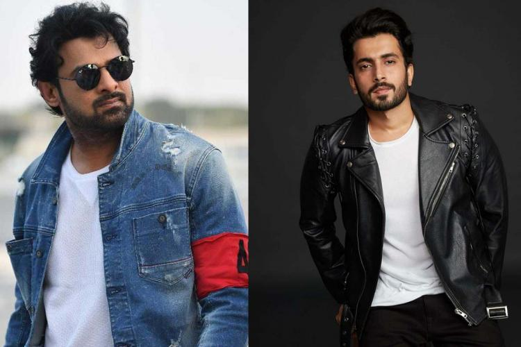 A collage of actors Prabhas and Sunny Singh