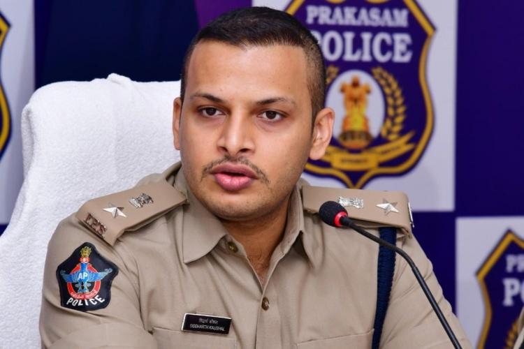 File photo of Prakasam SP Siddhartha Kaushal at a press meet