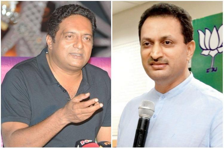 Anantkumar Hegdes stray dog comment angers Dalit groups Prakash Raj asks if BJP endorses