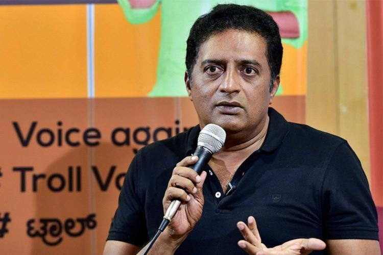 Actor Prakash Raj speaking at an event