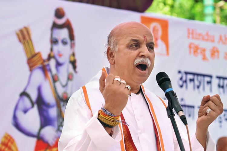 Togadia sets deadline for Ram temple blames Modi for delay