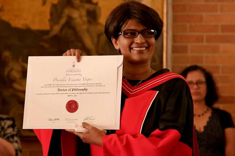 Terminally-ill Indian woman completes PhD on chemo Canada Univ holds special event to award her