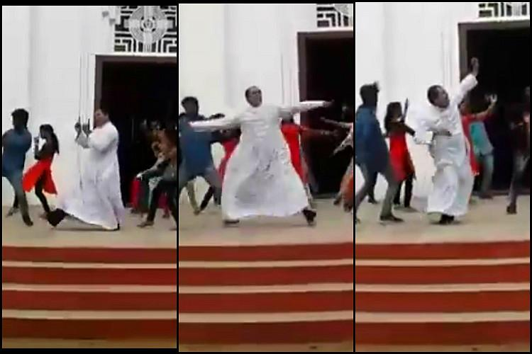 Watch This Kerala priest joined a flash mob and his dance moves will floor you