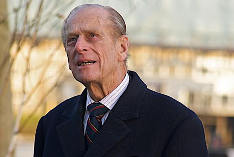Prince Phillip looking at City Hall