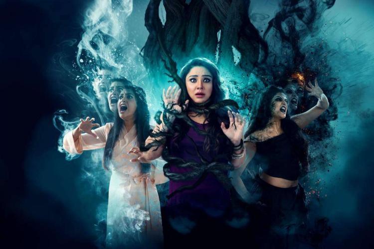 Poster of movie Khaimara showing Priyamani Priyanka Upendra and Chaya Singh