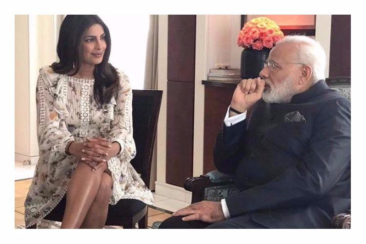 Priyanka Chopra posts picture of meeting with PM Modi trolls take offence at her legs