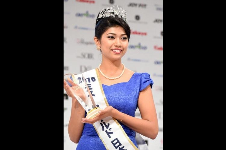 Everyone thought I was a germ Half-Indian Miss Japan triggers debate on race