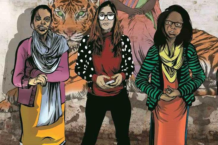 Superheroes with scars Priyas Mirror a comic featuring real-life acid attack survivors