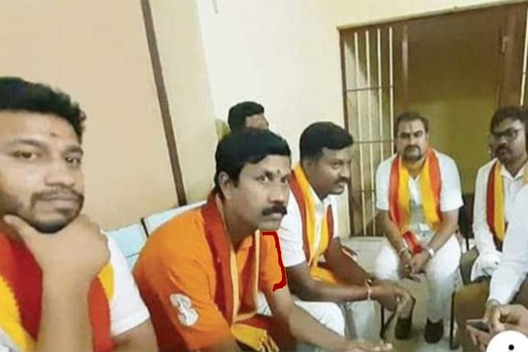 Arrest of pro-Kannada activists for tearing Hindi hoarding by Jains turns political