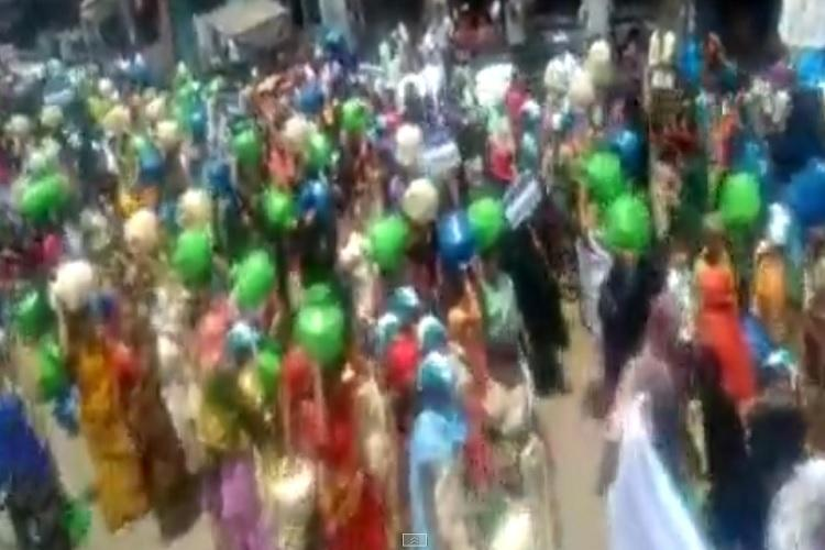 YSRCP workers protest against Tollywood actor and MLA Balakrishna for ignoring water crisis